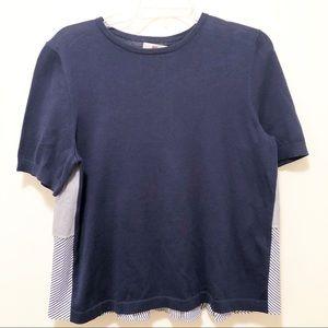 Vineyard Vines Mixed Media Tiered Light Sweater